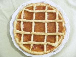 crostata vegana alla marmellata d'albicocca